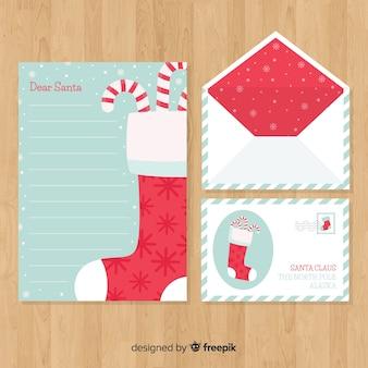 Envelope de natal e carta conceito
