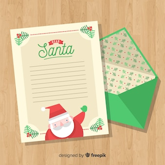 Envelope de natal e carta
