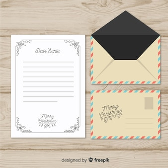 Envelope de natal vintage