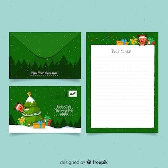 Envelope de rena de árvore de natal