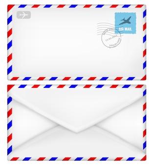 Envelope frente e verso ilustração