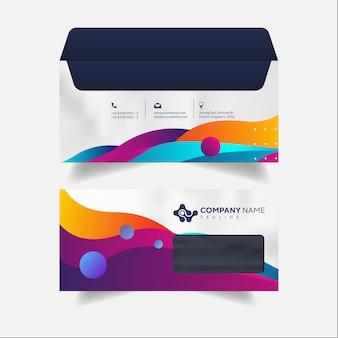 Envelope papelaria marca profissional de negócios