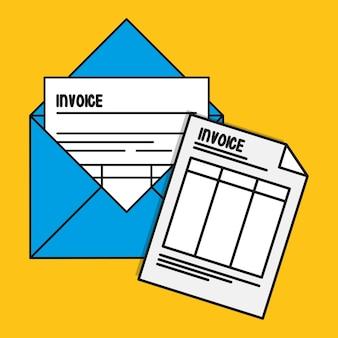 Envelope paper invoice payment ícone de pagamento