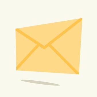 Envelope para ilustração vetorial de carta em estilo simples
