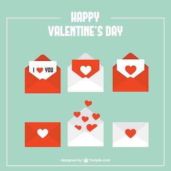 Envelopes com corações pacote