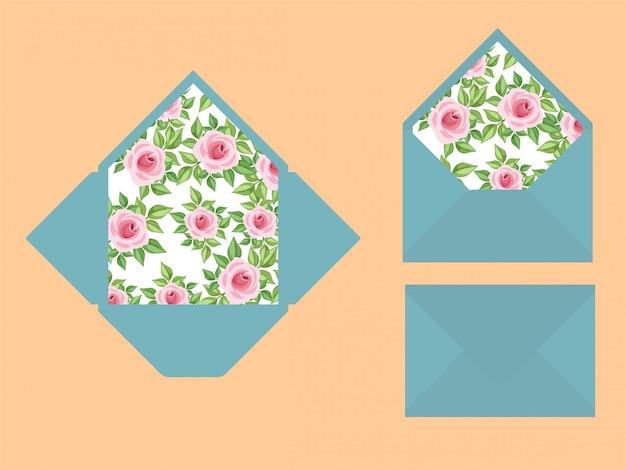 Envelopes modernos do convite do casamento