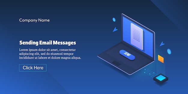 Enviando banner de mensagem de email