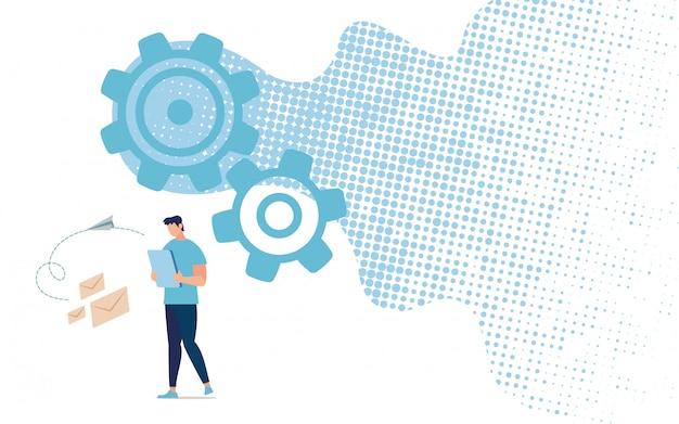 Enviando ou conversando conceito de vetor de serviço on-line