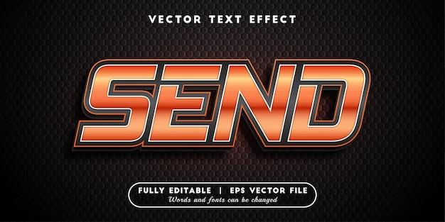 Enviar efeito de texto, estilo de texto editável
