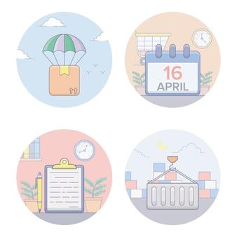 Envio de ícones planas