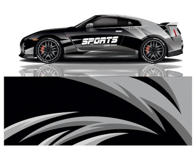 Envoltório do decalque do carro esporte