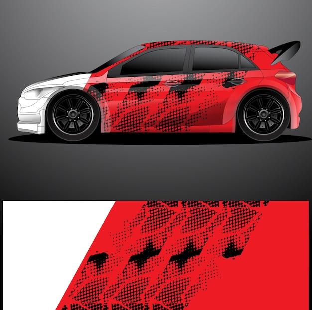 Envoltório gráfico de decalque de carro de rally