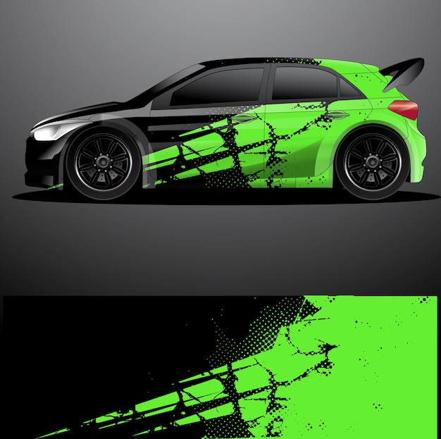 Envoltório gráfico do decalque do carro de rally