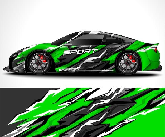 Envolvimento de carro esporte e pintura de veículo