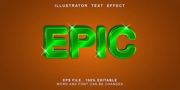 Épico de efeito de texto editável