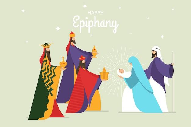 Epifania em design plano