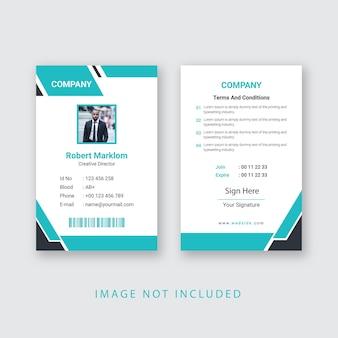 Eps de design de cartão de identificação empresarial