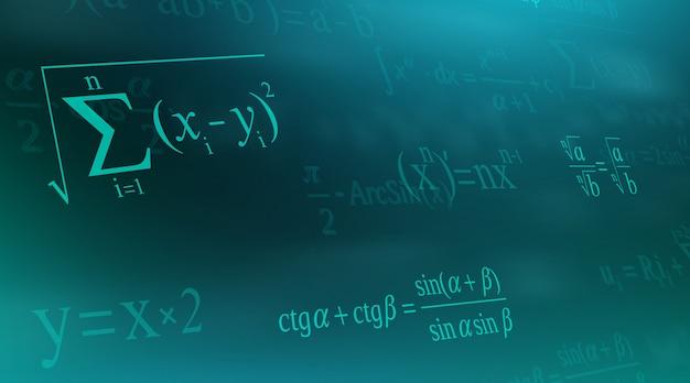 Equação matemática, fórmulas matemáticas e aritméticas.