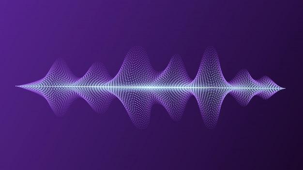 Equalizador com voz brilhante e ondas de imitação de som. assistente pessoal e reconhecimento de voz.