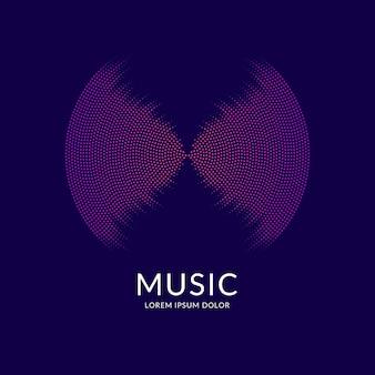 Equalizador de música. fundo abstrato do vetor com ondas dinâmicas, linha e partículas. ilustração adequada para design
