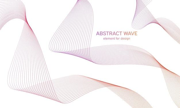 Equalizador de onda colorida abstrata