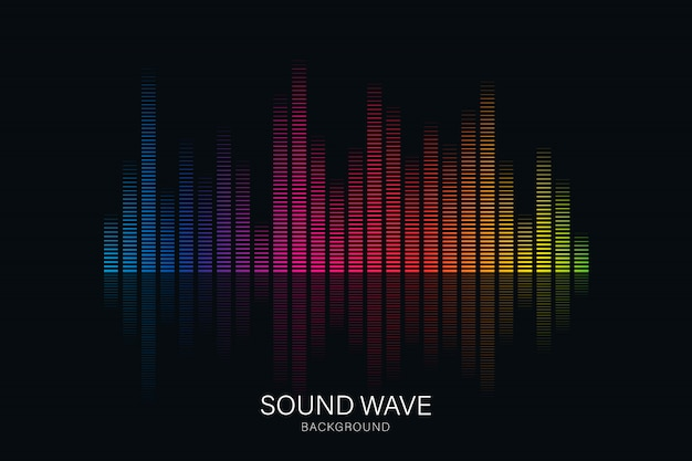 Equalizador de onda sonora adequado para pôster