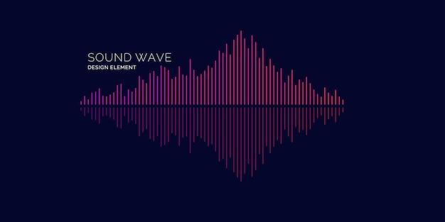 Equalizador de ondas sonoras. ilustração vetorial moderna em fundo escuro