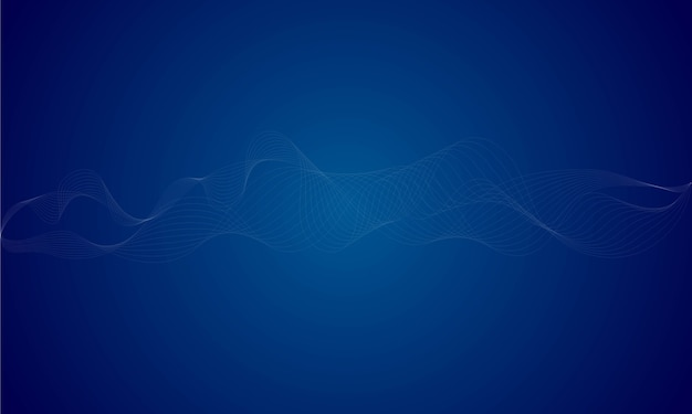 Equalizador digital abstrato azul, fundo de onda sonora