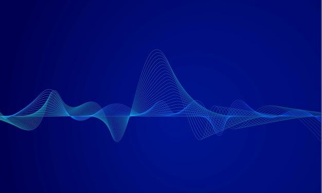 Equalizador digital abstrato azul
