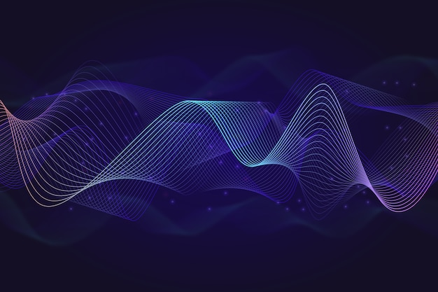 Equalizador equalizador ondas de fundo com brilhos