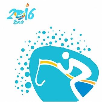 Equestrian ícone olimpíadas rio