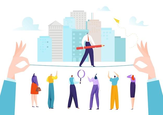 Equilíbrio de motivação e risco de desafio para ilustração de carreira de sucesso
