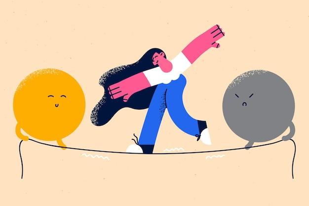 Equilíbrio emocional e conceito de harmonia