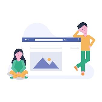 Equipa de desenvolvimento de websites para homem e mulher