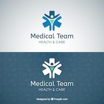 Equipa médica modelo de logotipo