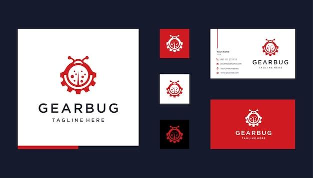 Equipamento com espaço negativo de design de logotipo de bug