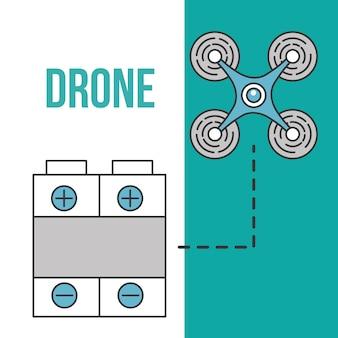 Equipamento de bateria futurista tecnologia drone