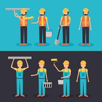 Equipamento de construção do trabalhador