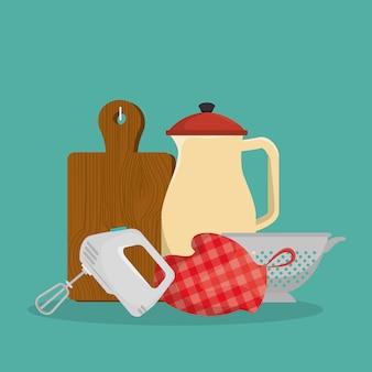 Equipamento de cozinha conjunto de ícones