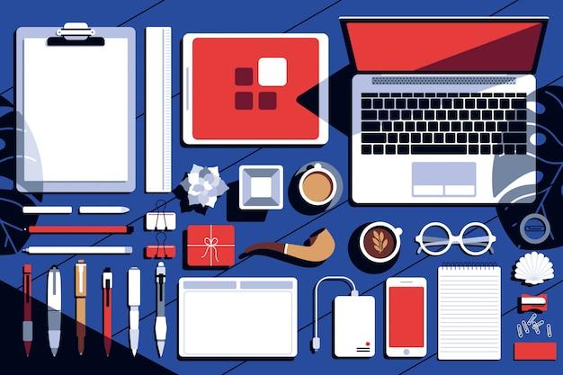 Equipamento de design plano