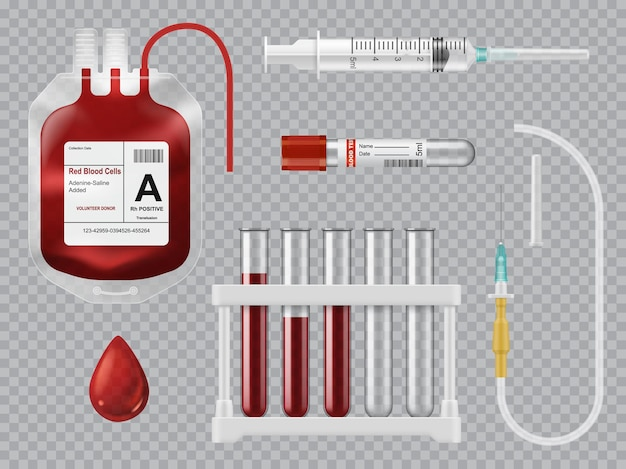 Equipamento de doação, transfusão e teste de sangue