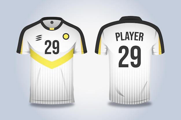 Equipamento de esporte de camisa de futebol