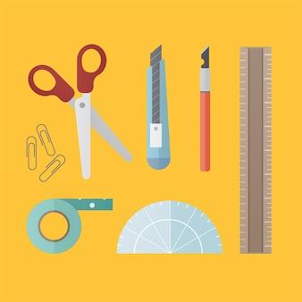 Equipamento de ferramentas de escritório objeto estacionário