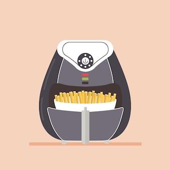 Equipamento de fritadeira de ar para preparação de fast food
