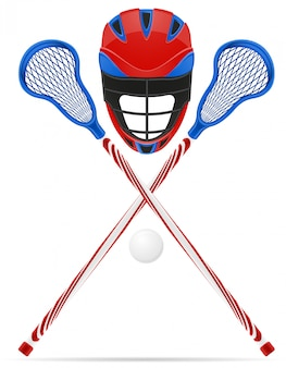 Equipamento de lacrosse.