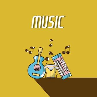 Equipamento de música moderna