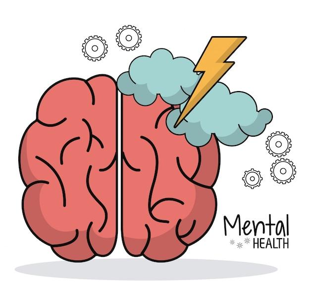 Equipamento de trabalho de brainstorming em saúde mental