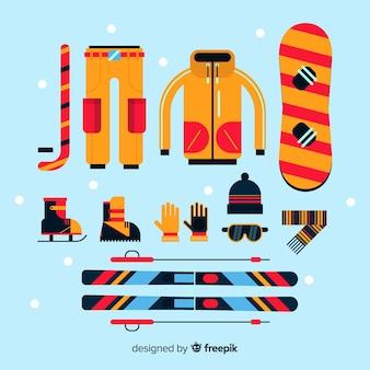 Equipamento esportivo de inverno