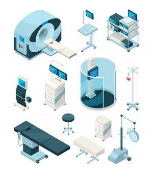 Equipamento isométrico para hospital, tecnologia de medicina, saúde e monitoramento