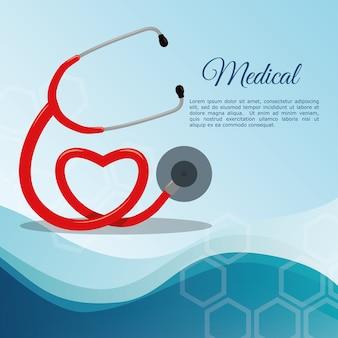 Equipamento médico do estetoscópio
